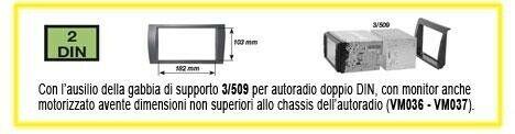 Kit di fissaggio per autoradio 2DIN Fiat Croma 05_02